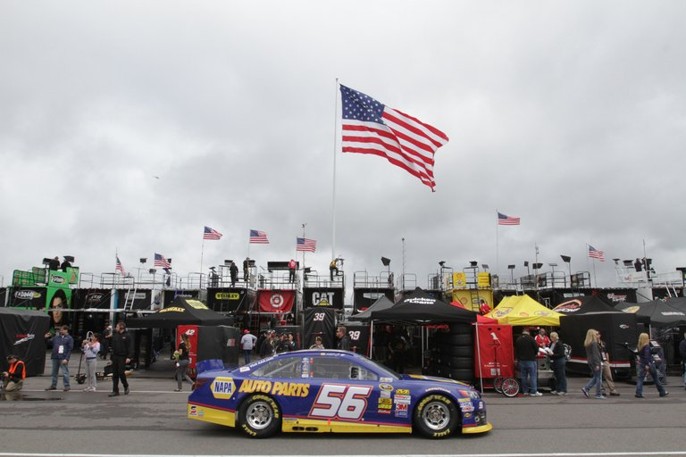 during practice for the NASCAR Sprint Cup Series Party in the Poconos 400 at Pocono Raceway on June 8, 2013 in Long Pond, Pennsylvania.