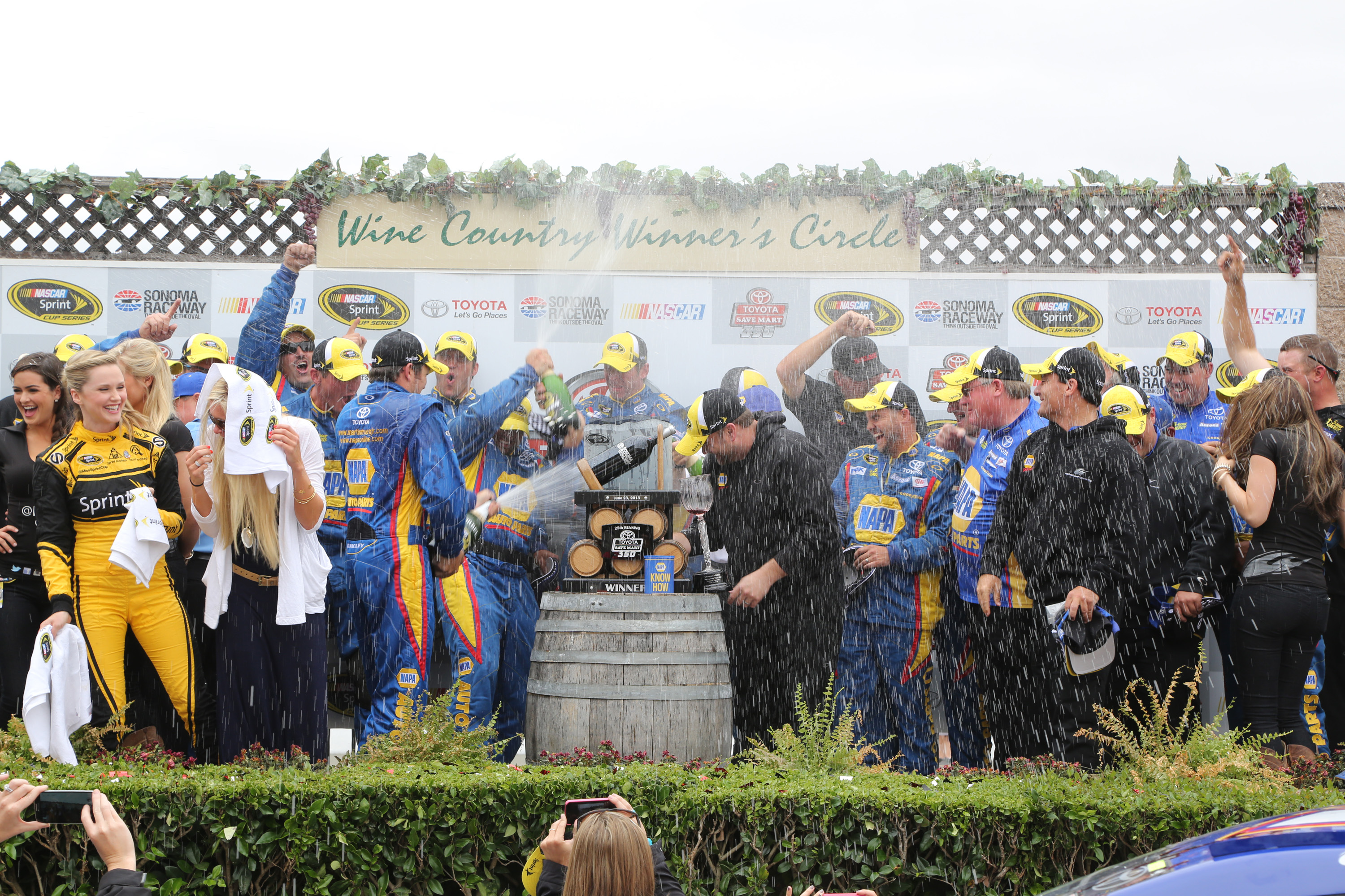during the NASCAR Sprint Cup Series Toyota/Save Mart 350 at Sonoma Raceway on June 23, 2013 in Sonoma, California.