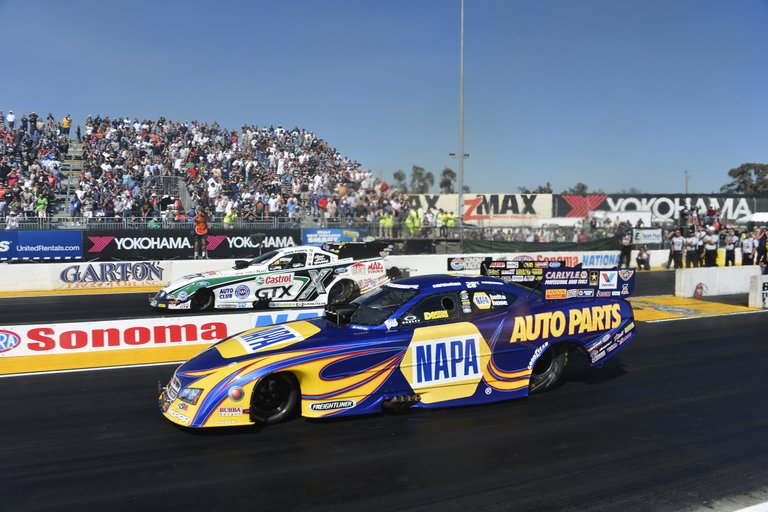 NAPA Auto Parts Funny Car driver Ron Capps final round Sonoma 2013