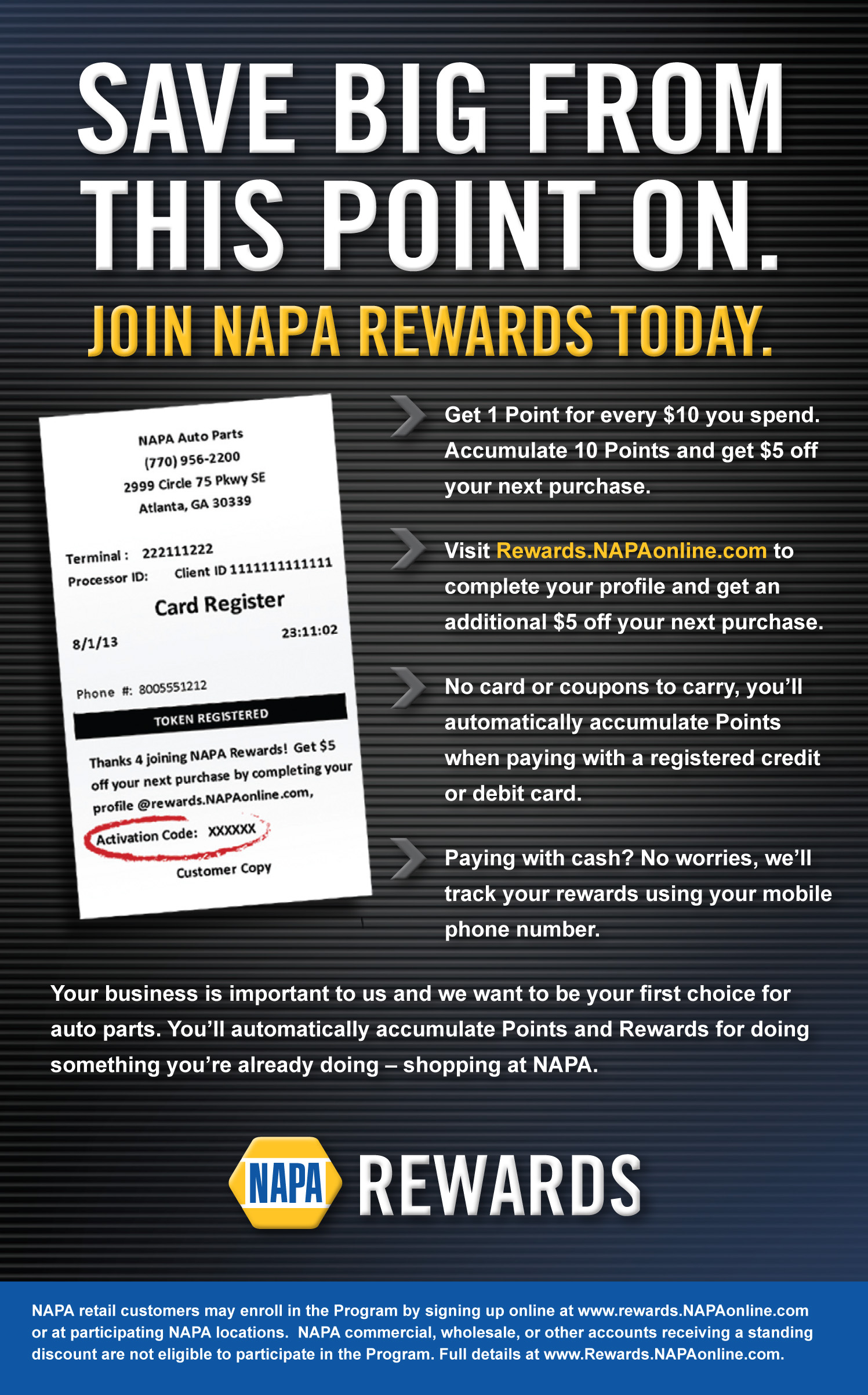 NAPA Rewards_Handout