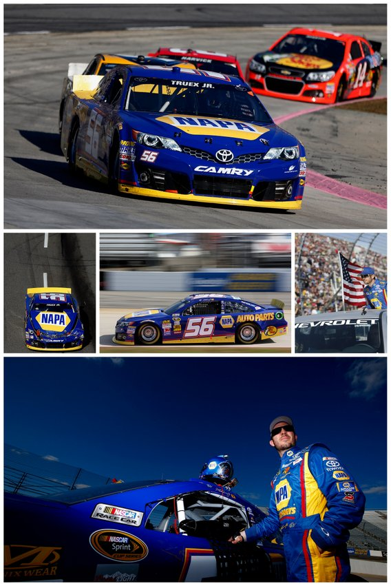 NAPA Auto Parts Truex NASCAR Sprint Cup Martinsville photo collage