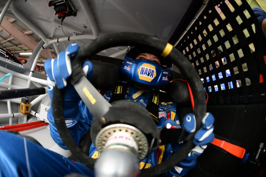 during practice for the NASCAR Sprint Cup Series AAA 400 at Dover International Speedway on September 27, 2013 in Dover, Delaware.