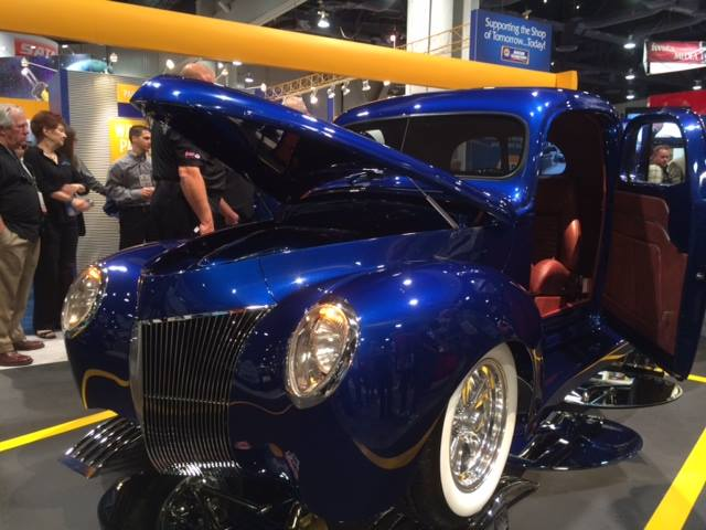 Chaotic Customs 1940 Ford Pickup built for NAPA's SEMA 2013 booth