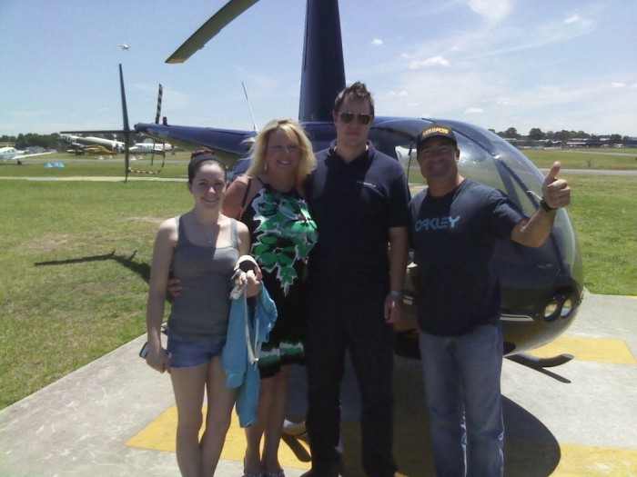 NAPA Funny Car Driver Ron Capps and family in Australia - chopper ride 2013-001