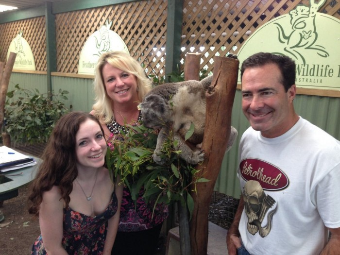 NAPA Funny Car Driver Ron Capps and family in Australia - koala 2013-001