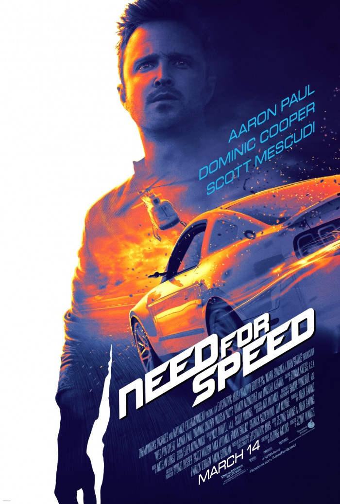 Need for Speed, movie, Aaron Paul, movie poster, NAPA, Mustang