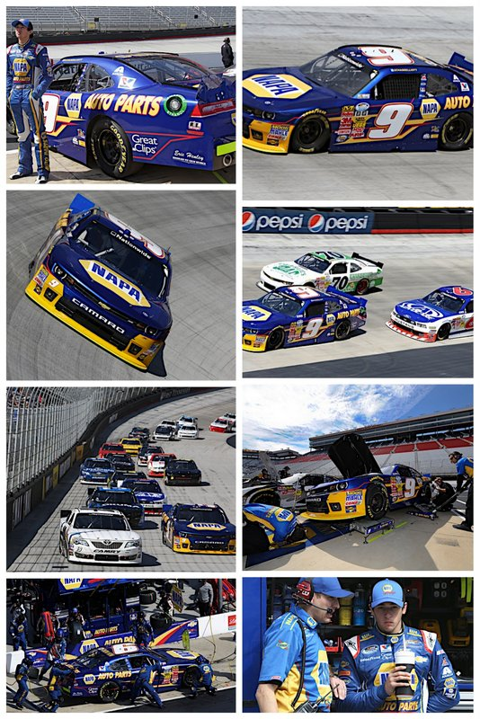 Nationwide Series rookie Chase Elliott at Bristol 2014 NAPA Auto Parts_collage