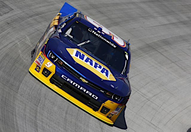 Nationwide Series rookie Chase Elliott at Bristol 2014 NAPA Auto Parts_front