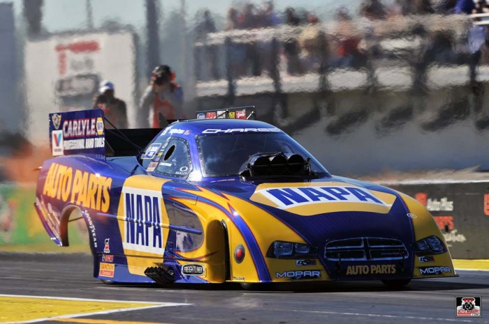 Ron Capps NAPA Dodge Funny Car Gatornationals 2014_frontqtr