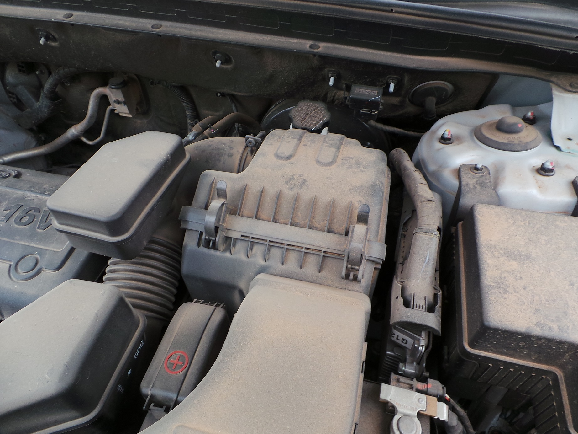 This is a typical airbox. This particular vehicle is a 2003 Chevrolet Silverado.
