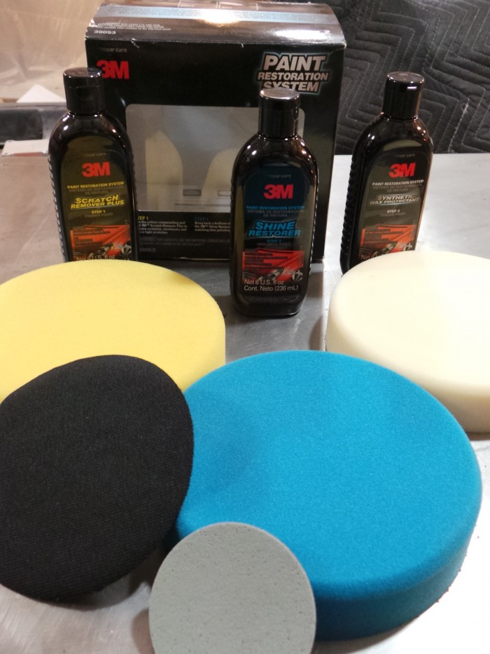 The 3M Paint Restoration Kit is just a smaller version of their professional Perfect-it buffing system