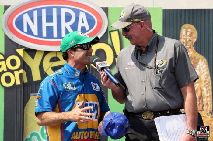 Capps Zmax Four-Wide Nationals 2014 NAPA Dodge Charger NHRA Funny Car Fastest Qualifier