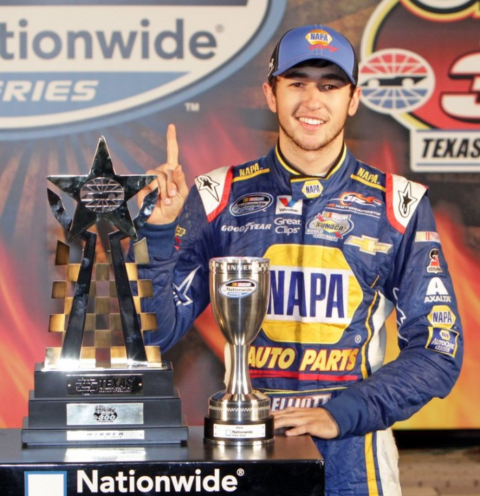 Chase Elliott First Career Nationwide Win 2014 Texas Motor Speedway No. 9 NAPA Chevrolet trophy