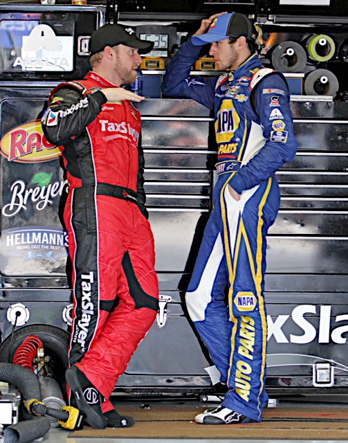 Chase Elliott First Career Nationwide Win 2014 Texas Motor Speedway No. 9 NAPA Chevrolet with Regan Smith