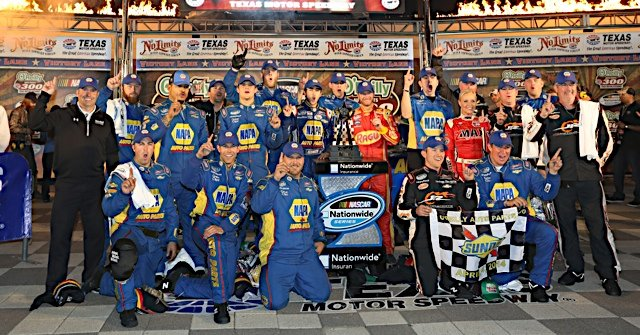 NAPA Racing Chase Elliott Victory Lane Texas 2014