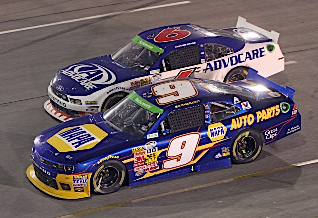 NNS Driver Points Lead Chase Elliott NAPA AUTO PARTS Chevrolet Richmond leading 6