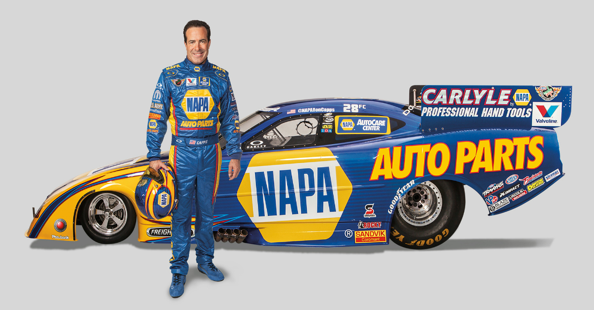 Ron Capps with funny car