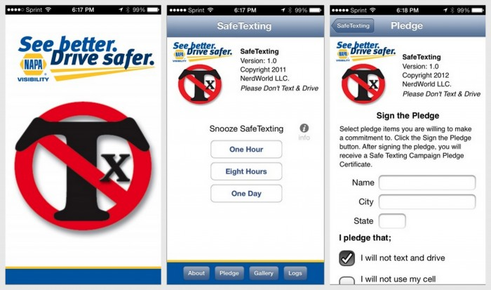 free safe texting app from NAPA - screenshots