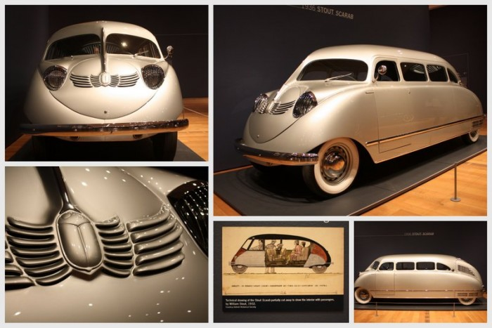 1936 Stout Scarab collage Dream Cars High Museum - NAPA Know How Blog