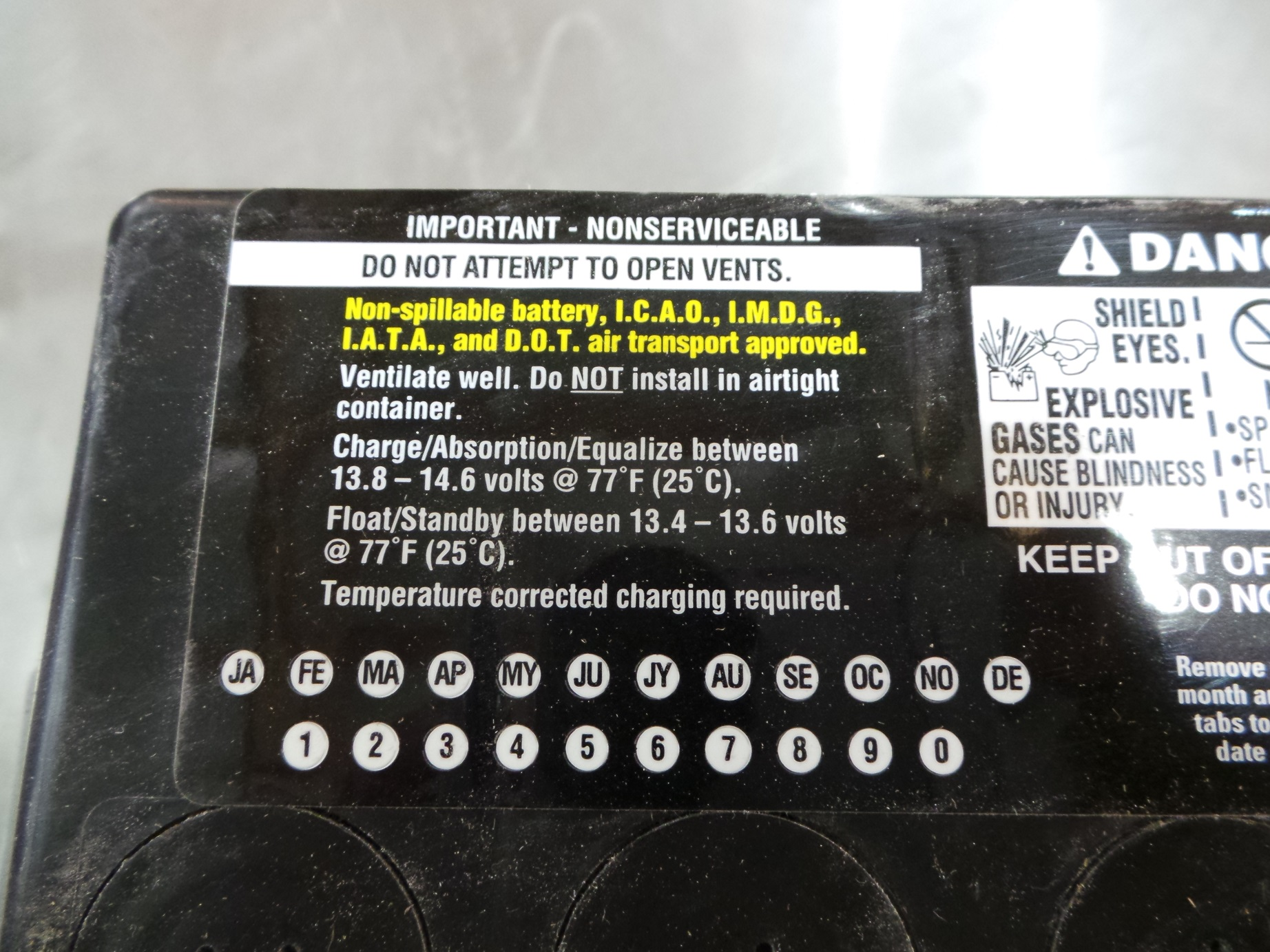 Apr 28,  · If they are NAPA batteries just call a NAPA dealer & ask what the code means. Some batteries such as these automotive type have a plastic decal that is marked at the time of sale of the battery in order to identify the warranty period. Check that negative pad a little closer also.