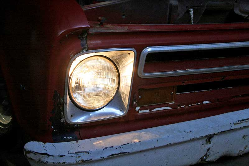 Sealed beam bulbs generate a dirty yellow light that works, but can be much better.