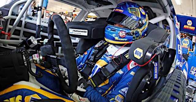 Chase Elliott during practice for the History 300 at the Charlotte Motor Speedway in Concord, NC.