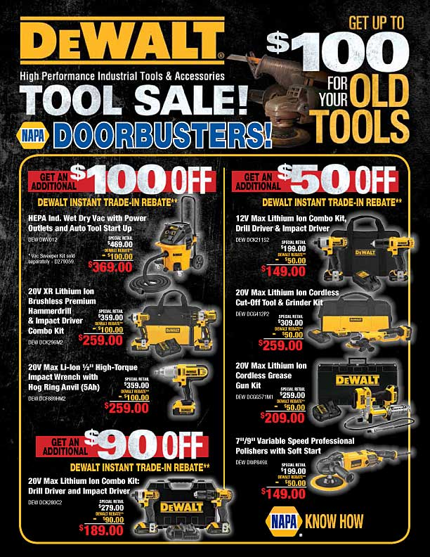 Check Out Napa S Dewalt Tools Trade In Program Napa Know
