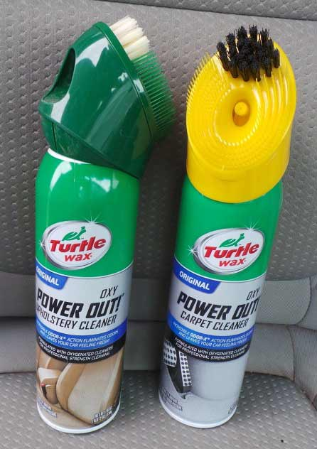 Turtle Wax's Power Out! products come in two flavors- Upholstery and Carpet