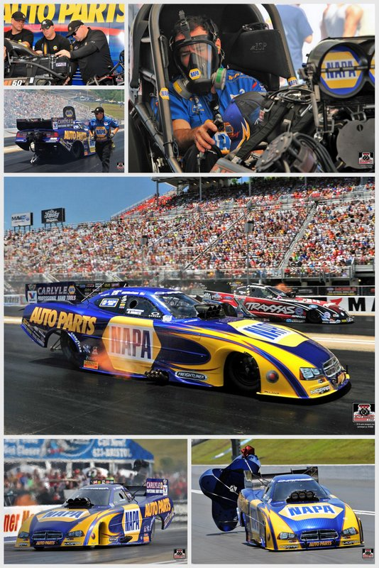 Capps NAPA Funny Car Bristol Dragway 2014 collage