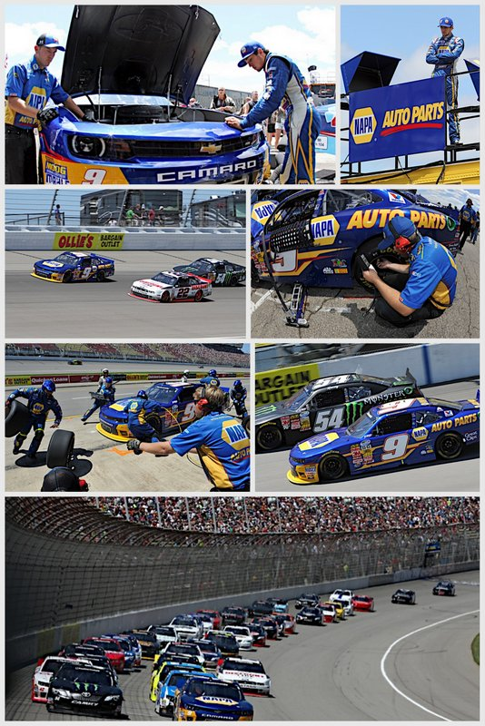 Chase Elliott NAPA AUTO PARTS NASCAR NNS Michigan 2014 collage