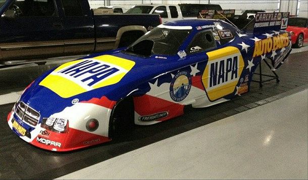NAPA 2014 Ron Capps Dodge Charger Funny Car Intrepid Fallen Heroes patriotic paint scheme