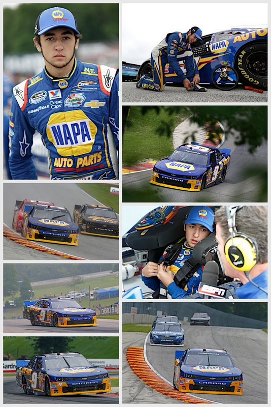 NASCAR NNS Road America 2014 Chase Elliott NAPA AUTO PARTS Chevrolet road course collage