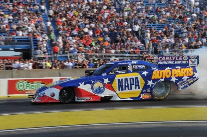 Ron Capps NAPA AUTO PARTS Dodge Charger RT Funny Car Route 66 NHRA Nationals Driver side