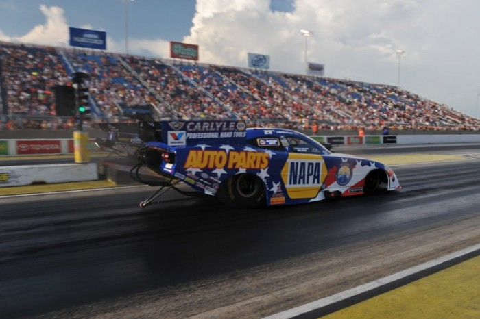 Ron Capps NAPA AUTO PARTS Dodge Charger RT Funny Car Route 66 NHRA Nationals passenger