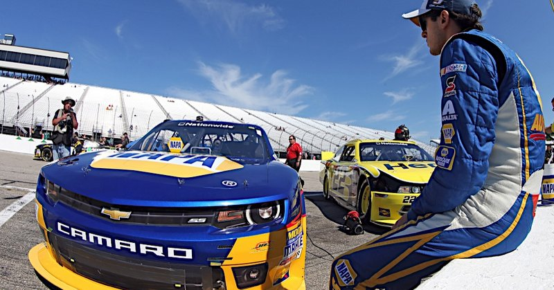 Chase Elliott during Nationwide qualifying at New Hampshire Motor Speedway in Loudon, NH.