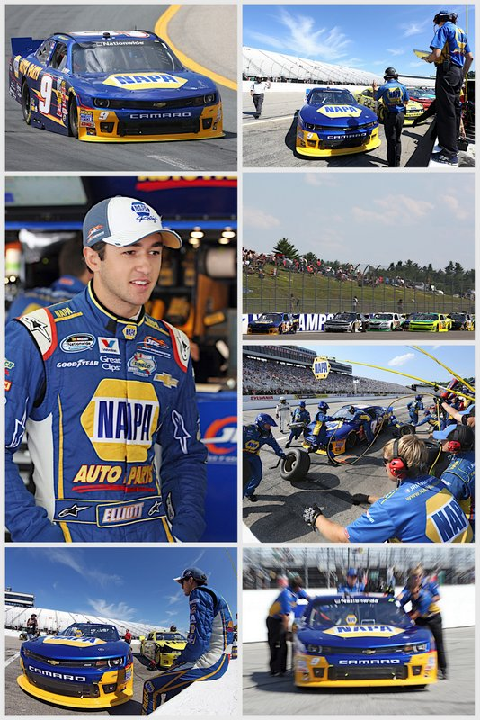 Chase Elliott NAPA AUTO PARTS Loudon NASCAR Nationwide collage