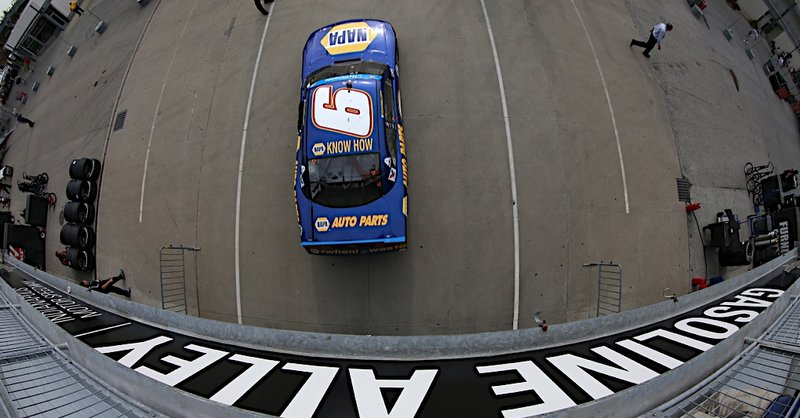 Chase Elliott during practice at Indianapolis Motor Speedway in Indianapolis IN.