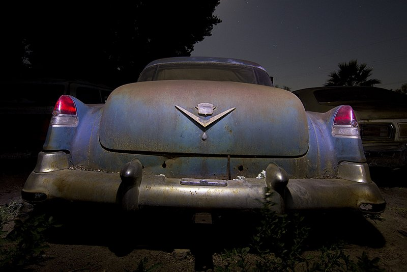 Photographer Troy Paiva captured this image of a junkyard Cadillac at Big M Automotive in Williams, California. Image credit: Troy Paiva