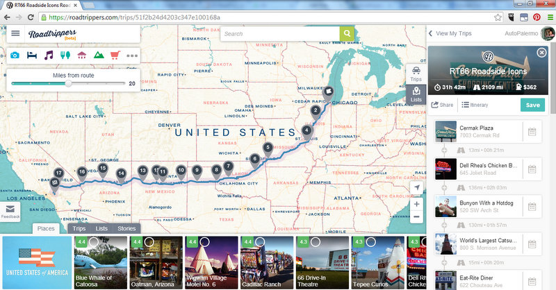 roadtrippers app brings travel inspiration and planning tools