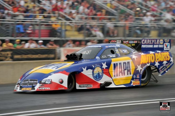 Ron Capps Norwalk 2014 NAPA AUTO PARTS Dodge Charger RT Funny Car Profile