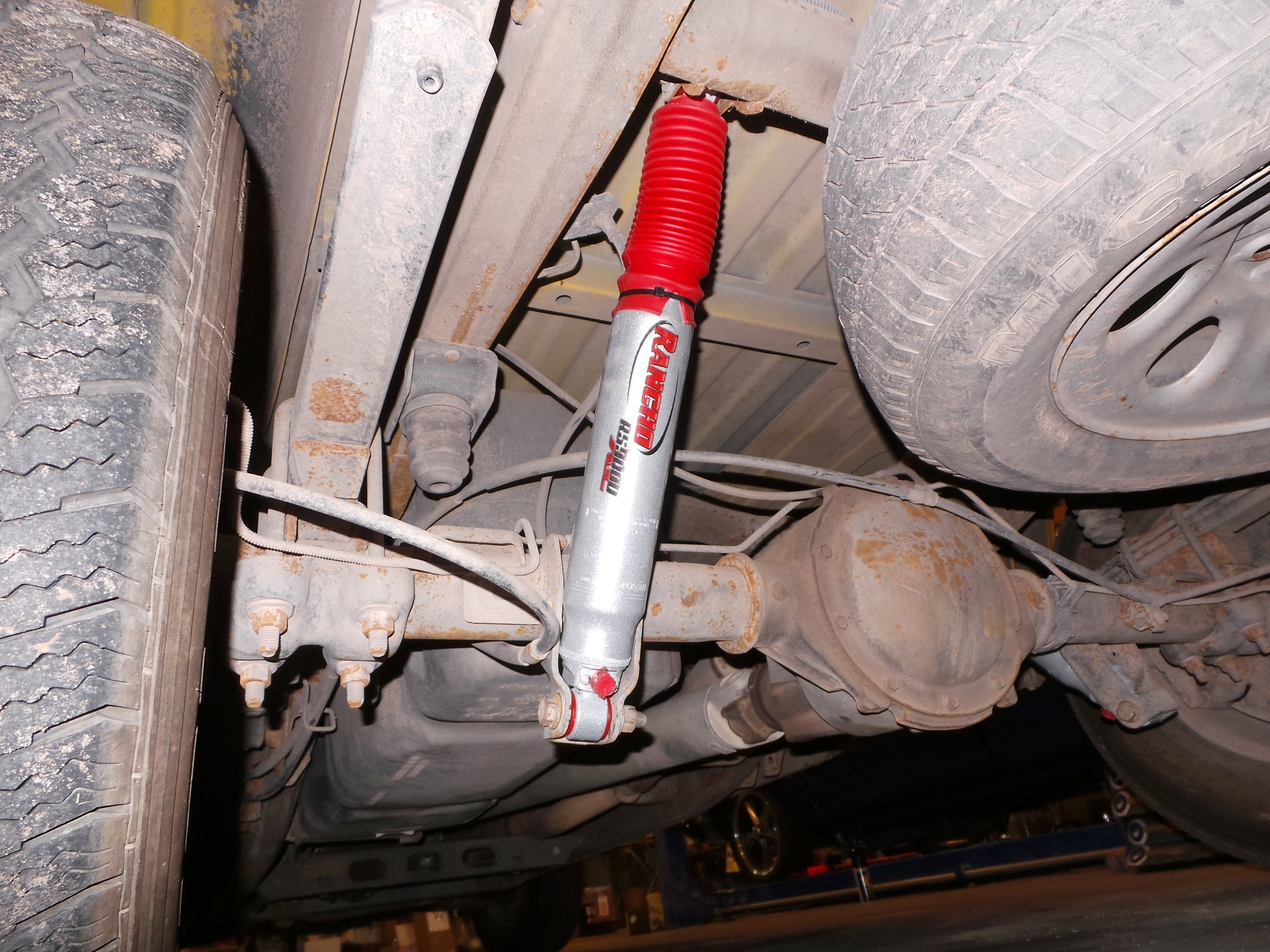 The new shocks look good under the truck, but will they perform?