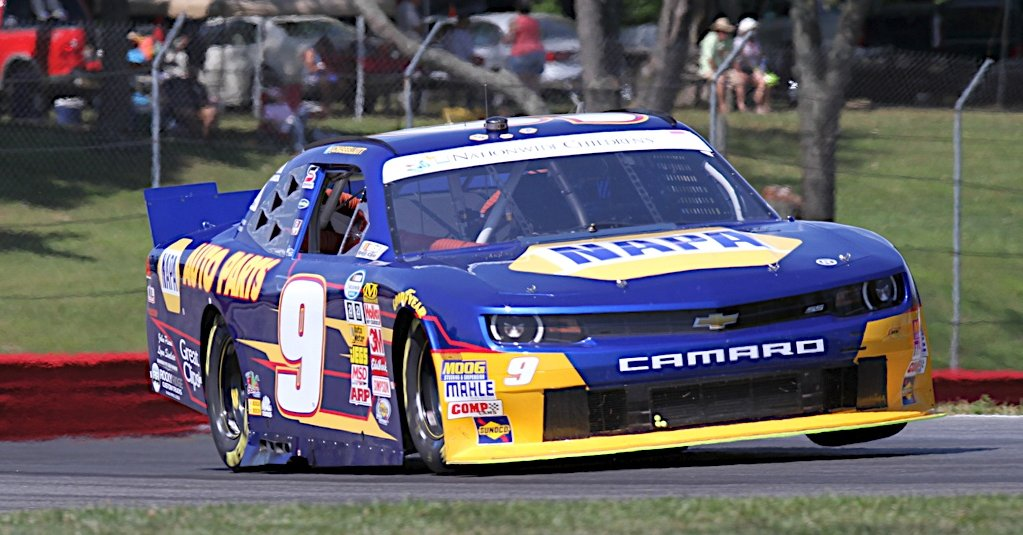 Chase Elliott during Practice for the Children's Hospital 200 at Mid-Ohio Sports Car Park