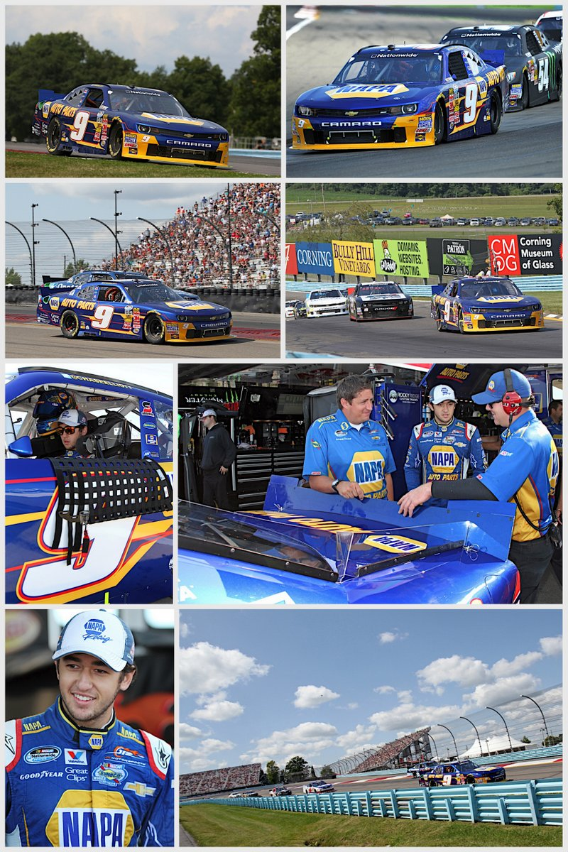 Chase Elliott Watkins Glen 2014 NASCAR Nationwide Series road course collage