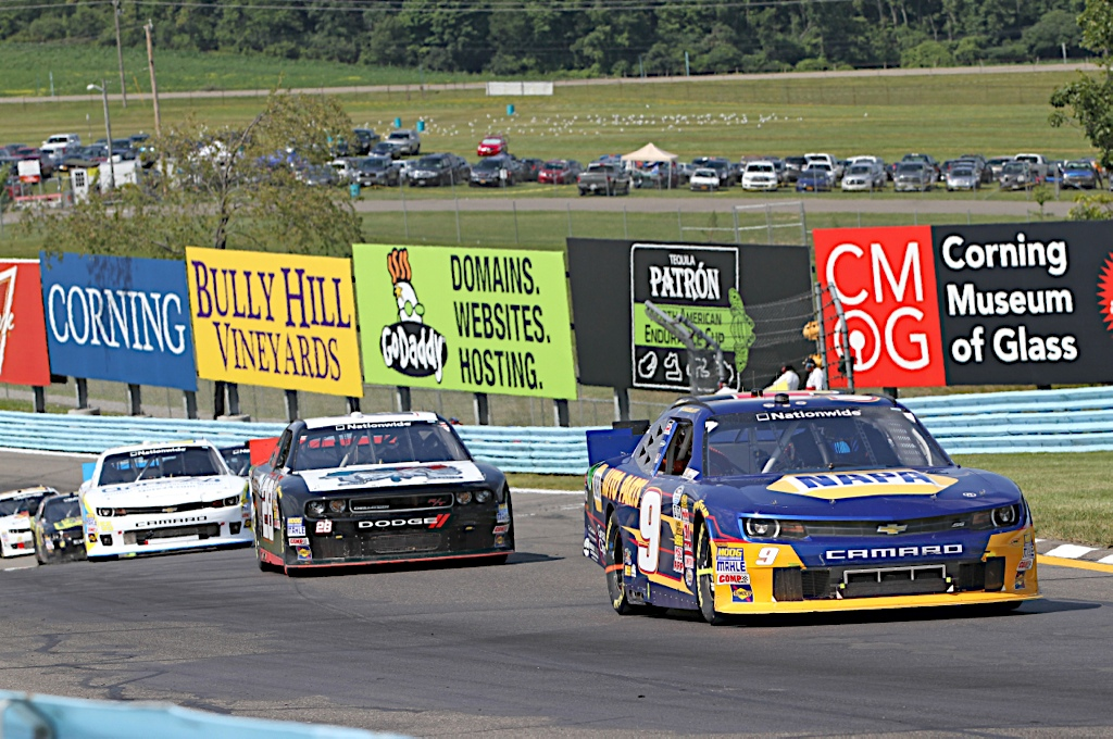 Chase Elliott Watkins Glen 2014 NASCAR Nationwide Series road course esses