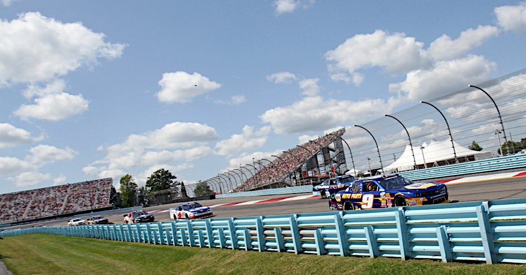Chase Elliott during the Zippo 200 at the Watkins Glen International in Watkins Glen, NY.