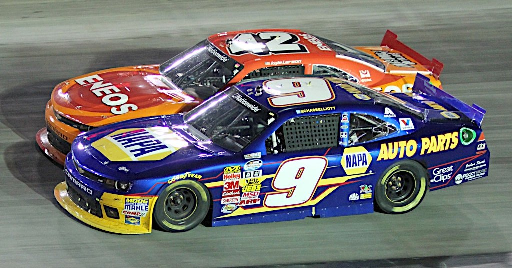 Chase Elliott during the Food City 300 at the Bristol Motor Speedway in Bristol, TN