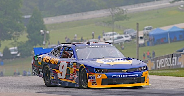 Chase Elliott during NASCAR NNS practice at Road America in Elkhart Lake, WI.