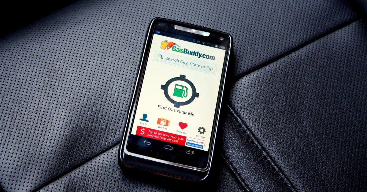 best driving apps GasBuddy seat