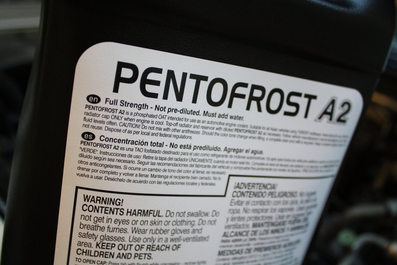 best antifreeze for imports NAPA Altrom Pentofrost A2 A3 A4 not diluted