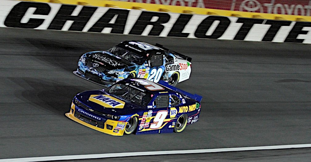 Chase Elliott during the 300 Miles Of Courage at the Charlotte Motor Speedway in Concord, NC.